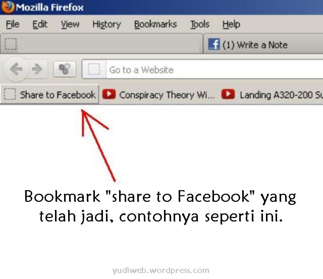 Klik kanan pada Bookmark Toolbar, lalu Klik New Bookmark