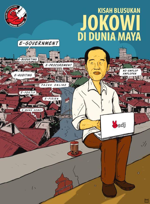 Jokowi Blusukan Dunia Maya (Rizal M)