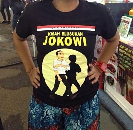 Jokowi t-shirt tintin 1
