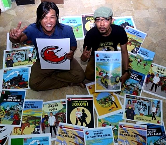 Jokowi tintin Yoga Adhitrisna dan Hari Prast
