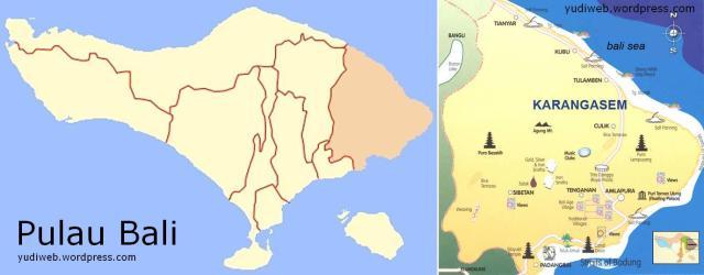 Karangasem Bali map_Regency