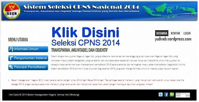 Pendaftaran Online CPNS 2014 - Daftar Disini