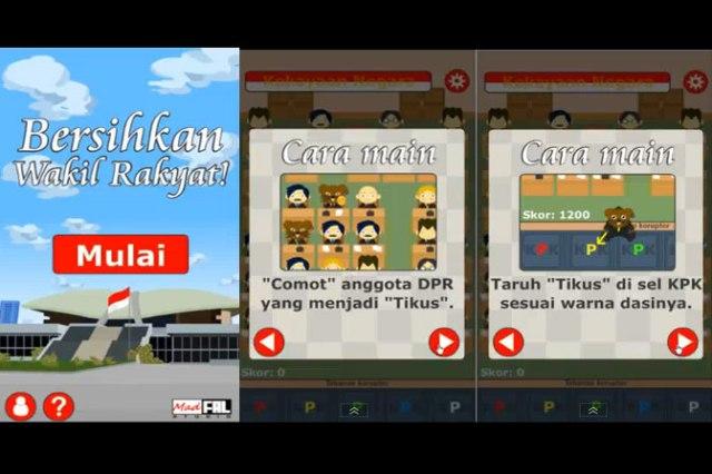 Permainan Bersihkan Wakil Rakyat1
