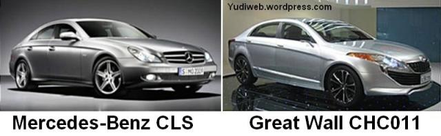 Great Wall CHC011-codenamed sport sedan concept v Mercedes-Benz CLS