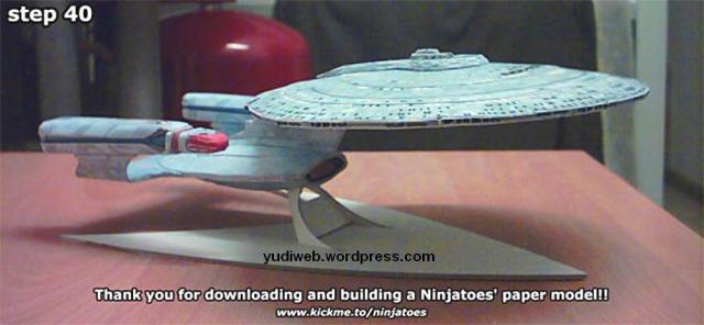 paper template startrek ship USS Enterprise NCC1701D