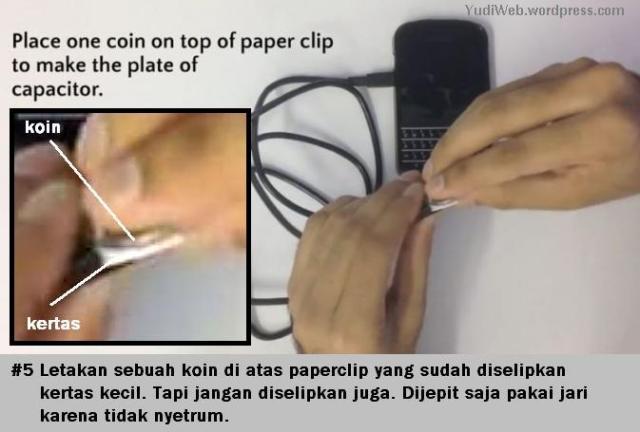 Charge Hape Pakai Klip dan Koin - 05