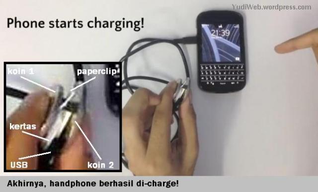 Charge Hape Pakai Klip dan Koin - 07