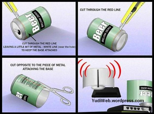 memperkuat signal-wifi-router-dengan lempengan soft drink 3