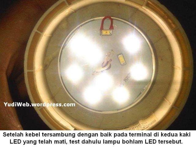 Cara lampu bohlam LED mati menjadi menyala 06