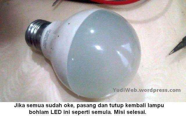 Cara lampu bohlam LED mati menjadi menyala 07